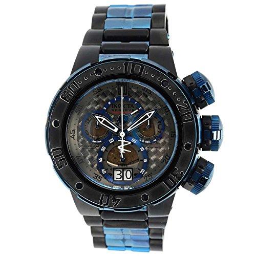 Invicta 22271 Men's Jason Taylor Black Carbon Fiber Dial Two Tone Bracelet Chronograph Dive Watch