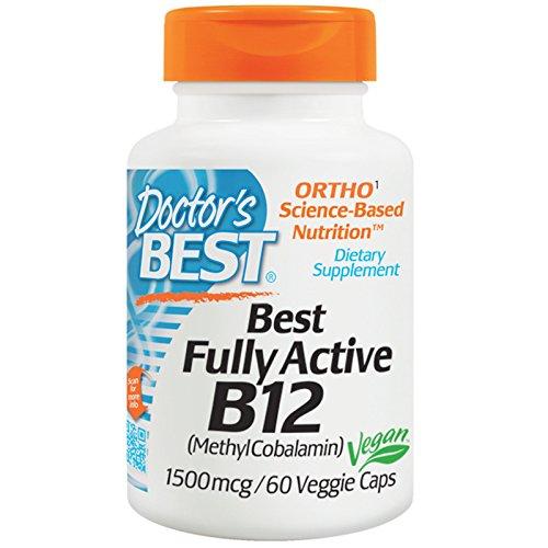 Doctor's Best, Best Fully Active B12, 1500 mcg, 60 Veggie Caps - 2pc