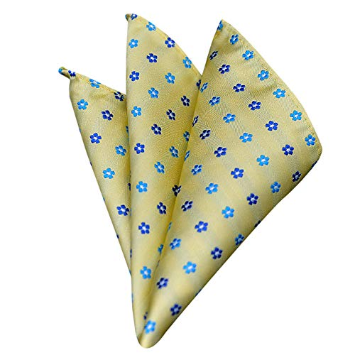 Fashion Men Women Floral Print Handkerchief,Retro Suit Pocket Square Scarf Soft Chest Towel (I)