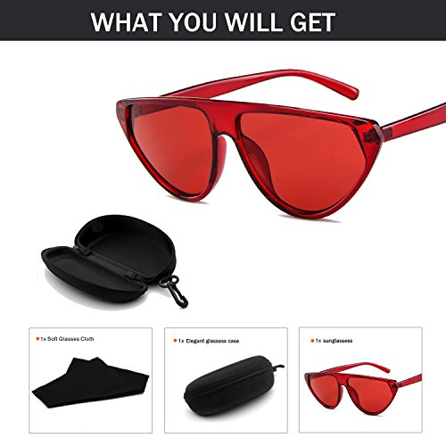 VAXT Direct Sun Glasses for Woman Rung Sunglasses Lucid Candy Color Eyewear (Color : ()