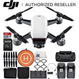 DJI Spark Portable Mini Drone Quad copter Fly More Combo Landing Pad Bundle (Alpine White)