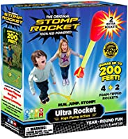 Stomp Rocket Ultra Rocket with Ultra Rocket Refill Pack, 6 Rockets - Outdoor Rocket Toy Gift for Boys and Girl