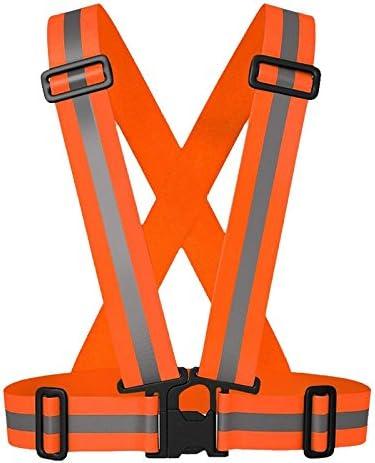 wildeal Unisex reflectante chaleco de seguridad cinturón ajustable ...
