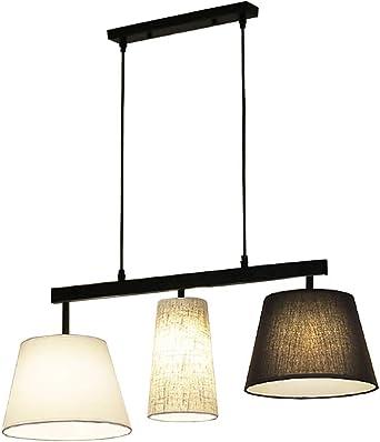 Design Hänge Leuchte messing Ess Zimmer Textil Decken Lampe höhenverstellbar