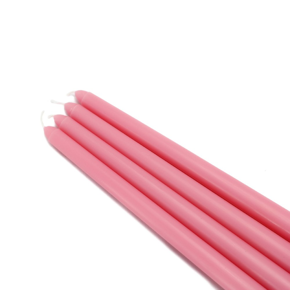 Zest Candle CEZ-068_12 144-Piece Taper Candle, 12'', Pink