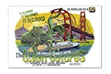 San Francisco, California - The Giant Octopus - B Movie Poster (18x12 Acrylic Wall Sign)
