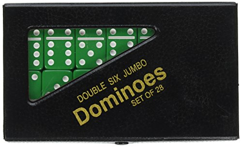 Jumbo Double Six Dominoes - CHH Double 6 Jumbo Dominoes - Green