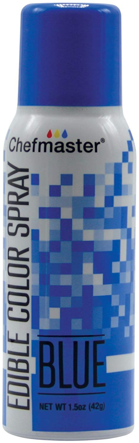Chefmaster Blue Edible Spray Paint 1.5 Ounces by Chefmaster