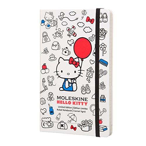 ad9ecc7ee Moleskine Hello Kitty Limited Edition Notebook, Large, Ruled, White, Hard  Cover (8055002852975)