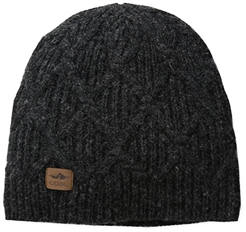 (Coal Men's the Yukon Chunky Knit Warm Beanie Hat, Black, One Size)