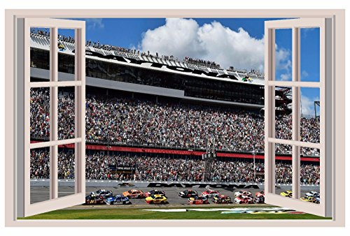 2016 NASCAR Sprint Cup 3D Window View Decal NASCAR WALL STICKER 18