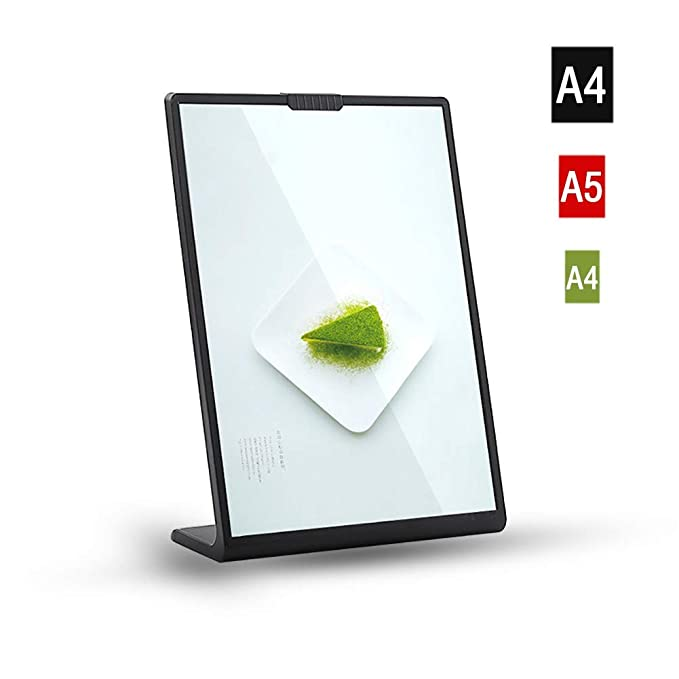 A4//A6 Rotating Acrylic Photo Frame Poster Picture Holder Menu Sign Display Decor