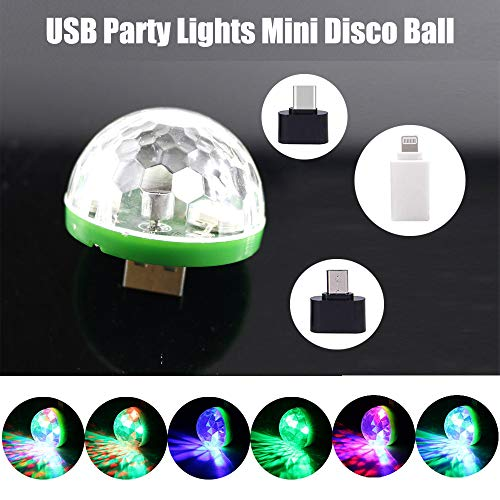 USB Party Lights Mini Disco Ball,Led Small Magic Ball Sound Control DJ Stage Light Colorful Strobe RGB Lamp For Christmas/Brithday/Wedding/Karaoke Decorations,Suitable for mobile phones -