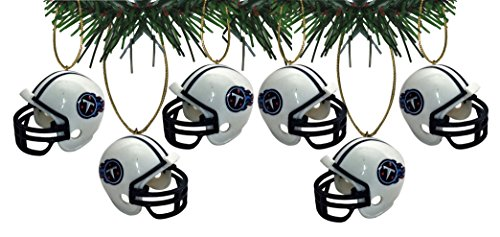 Tennessee Titans Football Helmet Ornaments Set Of 6 Nfl Football Snowman Ornament