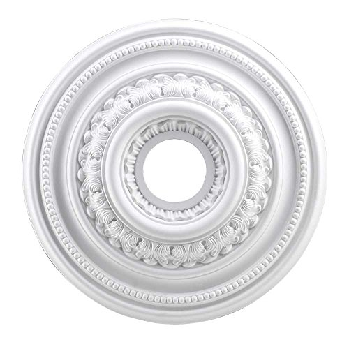 Elk M1002WH English Study Ceiling Medallion, 18-Inch, White Finish ()