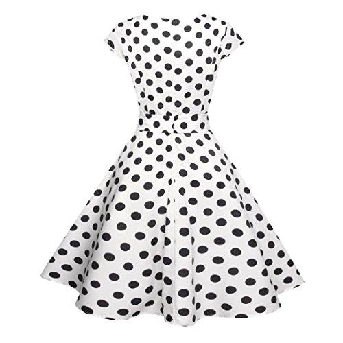 ... Kleid Damen Sommer Bekleidung Damen Kleider WINWINTOM 50s Retro  Schwingen Vintage Rockabilly kleid Faltenrock ... 4582cb2636
