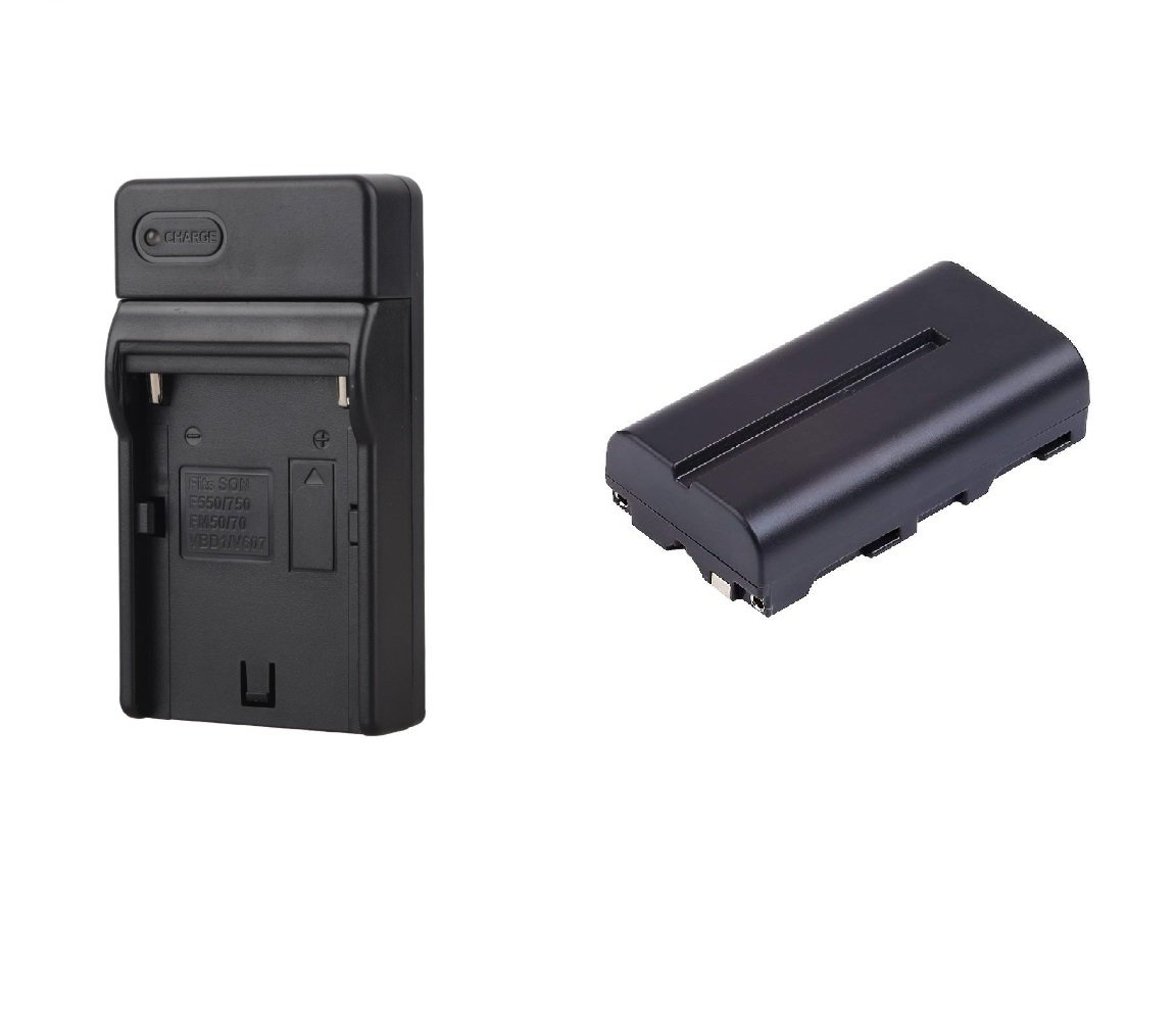 Battery and Charger Kit Bundle for The Lilliput A7S Monitor
