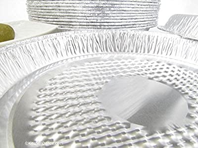 "Disposable Aluminum 7"" Individual Pizza Pans By D & W Fine Pack #WE50"