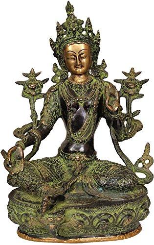 Tara Brass Statue - Green Tara - Brass Statue