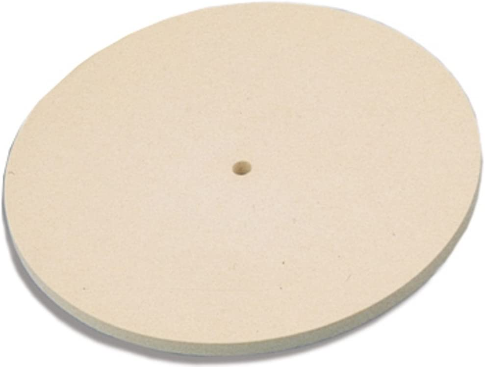 Jewelers Felt Lap Diamond Hard 6 Diameter X 1//4 Thick X 1//4 Hole