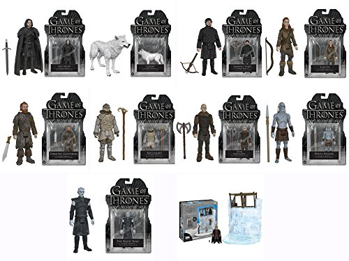 Game of Thrones The Wall and Tyrion Lannister Action Playset, Night King, White Walker, Styr, Rattleshirt, Tormund Giantsbane, Ygritte, Jon Snow, Ghost, Samwell Tarly 3 3/4-Inch Figures Set of 10