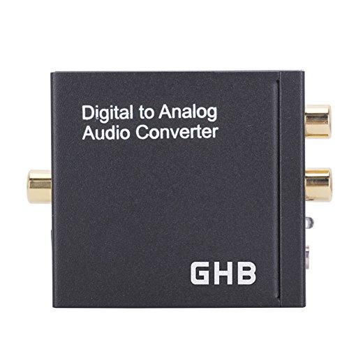 Digital zu Analog Audio Konverter Toslink und Coaxial Audiowandier Mit Netzteil und Klinke Audio Konverter Wandler 3,5mm