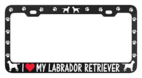I Love My Bullmastiff License Plate Frame Tag Holder