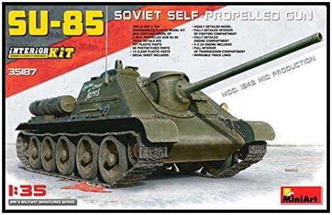 ミニアート 1/35 SU-85Mod. 1943 中期生産型 フルインテリア 内部再現 プラモデル MA35187