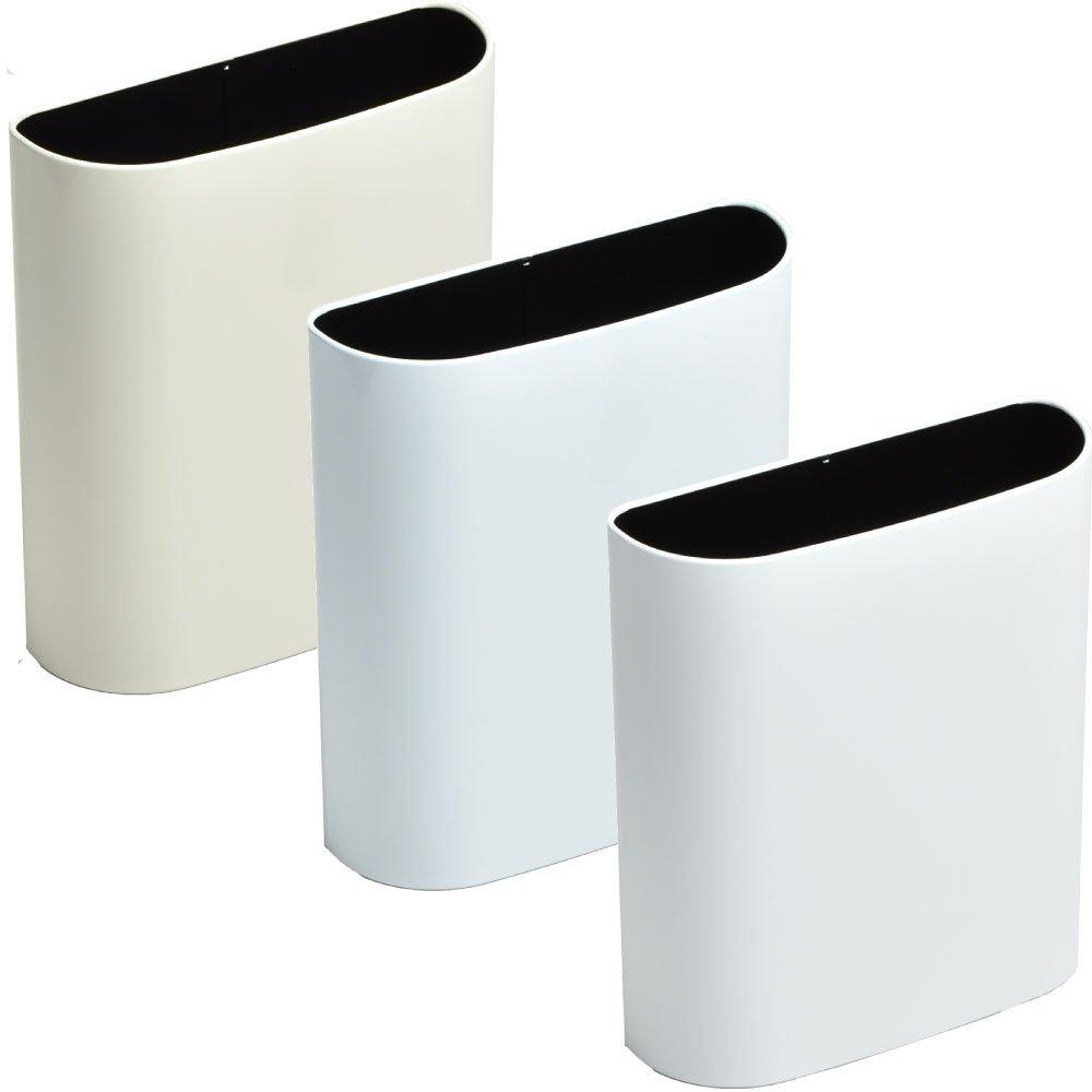 ぶんぶく マグネットバケット 全9色の中から選べる3個セット ゴミ箱 ごみ箱 ダストボックス おしゃれ 日本製 (アイボリー×ホワイト×マットホワイト) B075K43DY9 アイボリー×ホワイト×マットホワイト アイボリー×ホワイト×マットホワイト