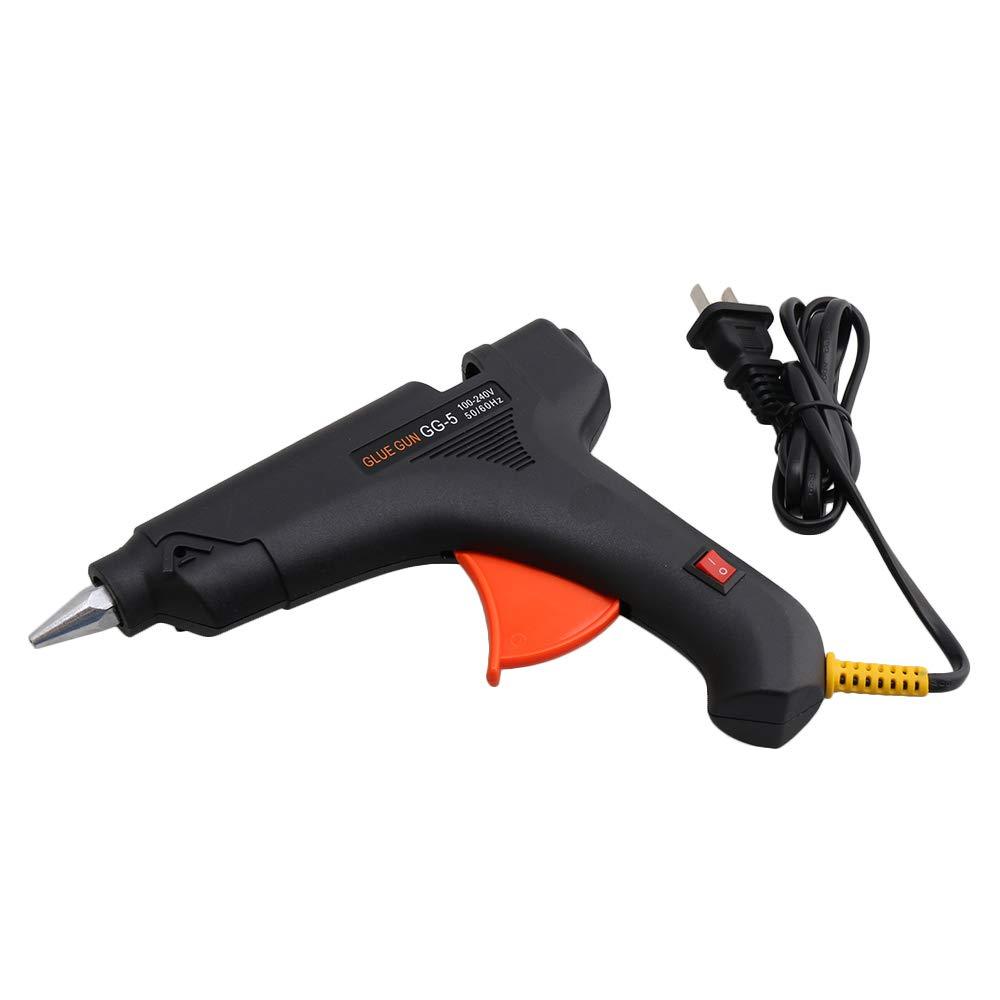 Yibuy Black US Plug 60W High Temp Hot Melt Glue Gun Tool for Arts & Crafts Use