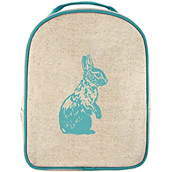 SoYoung Toddler Lunch Box Bunny - Raw Linen, Aqua