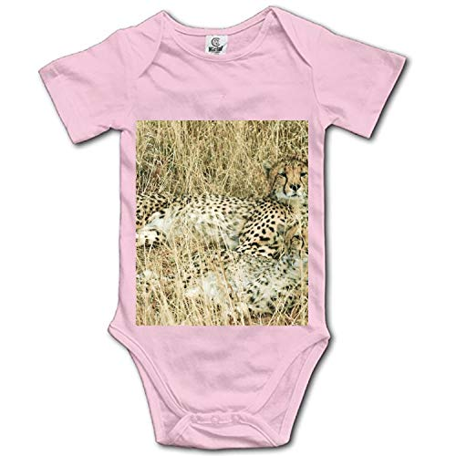 Leopard On The Grass Soft Cotton Short Sleeve Unisex Baby Bodysuit -