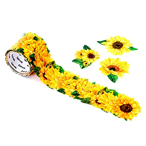 Bande Masking Roll Sticker Masking Tape Sunflower for Scrapbooking DIY - Try Frames On Online