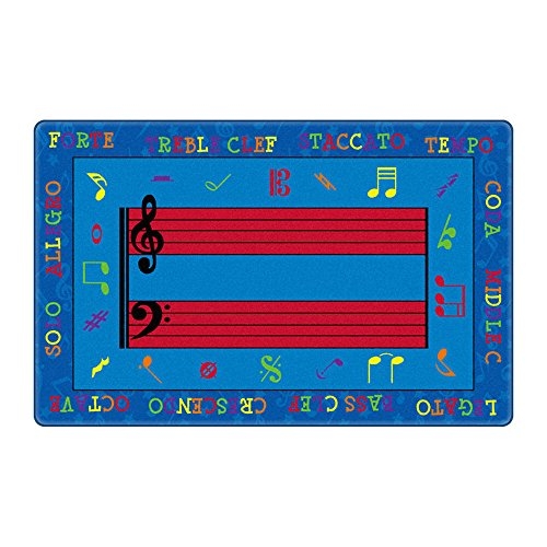 Best Carpet Nylon - Flagship Carpets Kids Learning Essential Fun with Music Educational Rug Nylon Rectangle 10'9