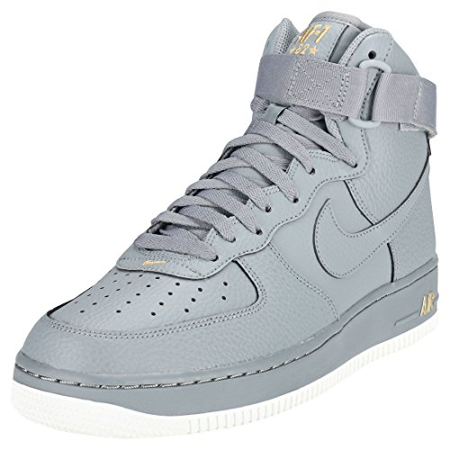 NIKE Mens Air Force 1 High 07 07 07 Basketball Shoes Cool Grey/Summit White 315121-049 Size 9 6d9ab8