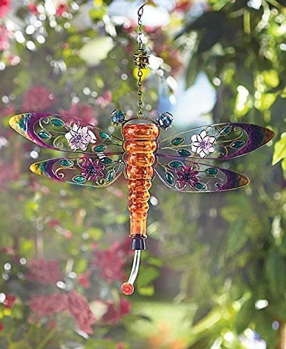 Dragonfly Metal and Glass Hummingbird ()