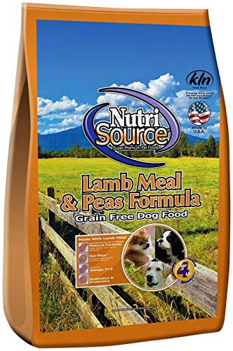 Nutri Meals (Nutri Source Lamb Meal & Peas Formula Dog Food, Grain Free, 5 lb, for Dogs)