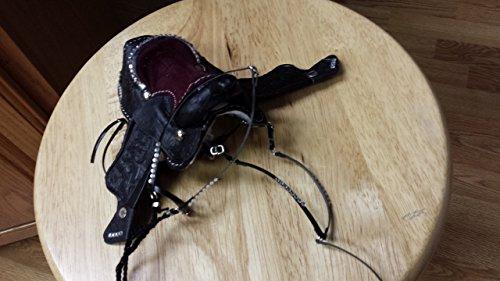 handmade Marx Johnny West horse saddle parade set made in South Dakota