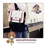 KINOMOTO Anime Cardcaptor Sakura Backpack Bookbag School Shoulder Bag Daypack Handbag (Canvas bag)