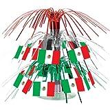Beistle 50106 Mexican Flag 71/2-Inch Cascade Centerpiece, Mini
