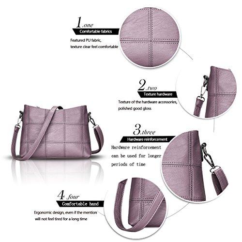 las bolso la Bolsa mensajero P¨²rpura manera hombro de suave empalma que se Bolsos nuevo Tisdaini de bolso moda oras de de Xq88wE