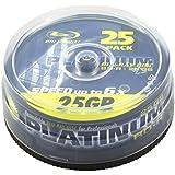 Platinum 100452 - Discos de Blu-ray vírgenes (Velocidad de escritura BD-R: 6 x)