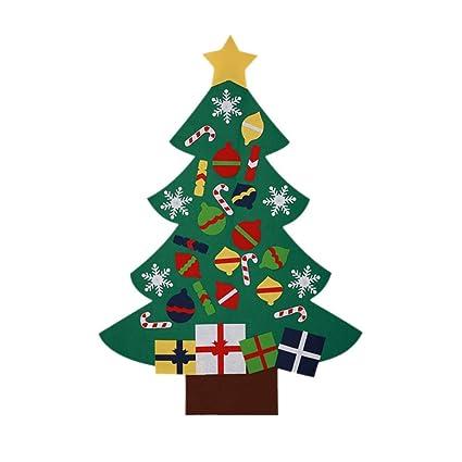 Handfly - Juego de árbol de Navidad de Fieltro y 26 Adornos Desmontables, para Colgar
