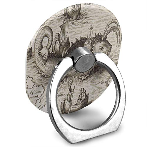 (Ring Holder Old Nautical Chart Ring Cell Phone Stand Adjustable 360° Rotation Finger Ring Stand for IPad, Kindle, Phone X/6/6s/7/8/8 Plus/7, Android Smartphone)
