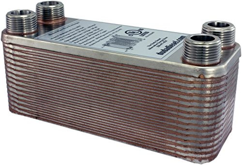 Heat Brazed Exchanger Plate - Duda Energy HX1230:F12 B3-12A 30 Plate Stainless Steel Heat Exchanger with 1/2