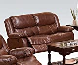 ACME 50201 Fullerton Bonded Leather Loveseat, Brown Review