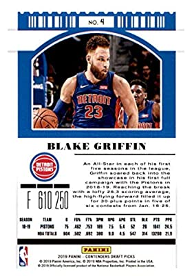 2016-17 Panini Contenders Draft Picks Basketball #9 Blake Griffin Oklahoma