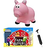 Farm Hoppers - Award Winning Inflatable Bouncing Pink Pig with Pump