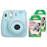 Fujifilm Instax Mini 8 Instant Film Camera Blue With 20 Sheets Instant Film