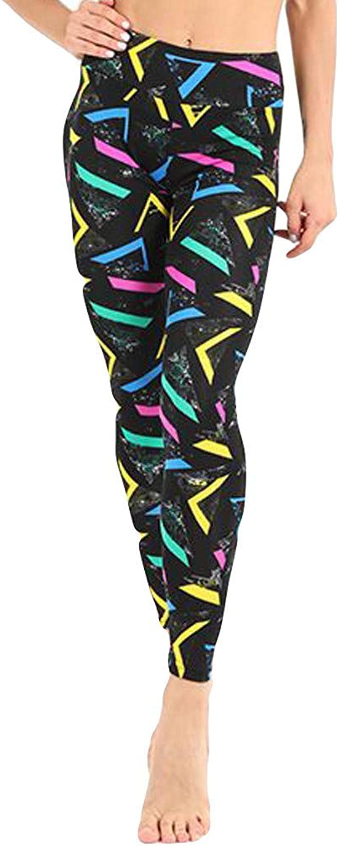 Christmas Women Yoga Pants Cute Xmas Graphic Print Print Fitness Leggings Casual Color Block High Waist Running Workout Sweatpant Breathable Gym Stretch Tights Sports Trouser